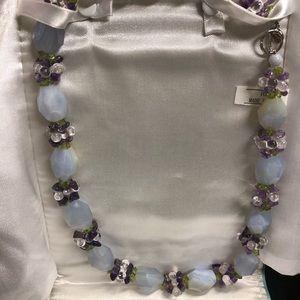 Ross Simons necklace blue lace agate and quartz